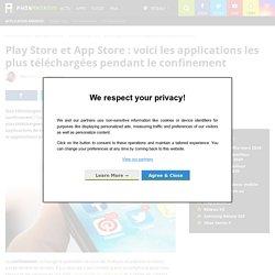 Play Store et App Store : voici les applications les plus téléchargées pendant le confinement