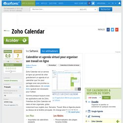 Zoho Calendar (Applications Web) - Télécharger