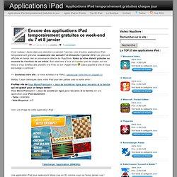 Encore des applications iPad temporairement gratuites ce week-end du 7 et 8 janvier