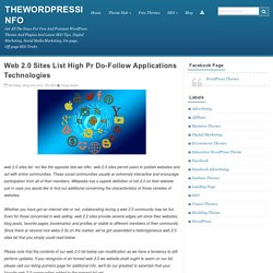 Web 2.0 Sites List High Pr Do-Follow Applications Technologies - Thewordpressinfo