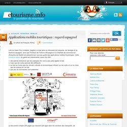 Applications mobiles touristiques : regard espagnol