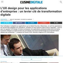 L'UX design pour les applications d'entreprise : un levier clé de transformation digitale