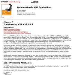 Building Oracle XML Applications: Chapter 7: Transforming XML with XSLT