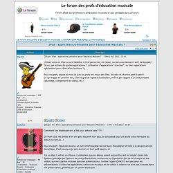 IPad : applications/utilisation pour l'Education Musicale ?