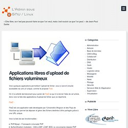 Applications libres d'upload de fichiers volumineux
