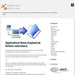 Applications libres d'upload de fichiers volumineux