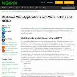 Real-time Web Applications with WebSockets and NGINX - NGINX