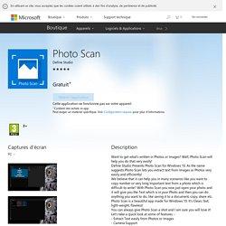 Photo Scan : scanner avec reconnaissance de caractère