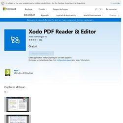 Xodo PDF Reader & Editor : lire et annoter vos pdf