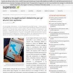 I tablet e le applicazioni didattiche per gli alunni con autismo