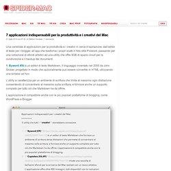 7 applicazioni indispensabili per la produttività e i creativi del Mac : SPIDER-MAC
