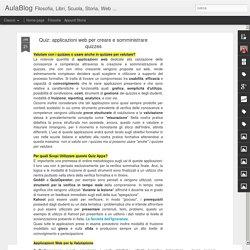 applicazioni web per creare e somministrare quizzes