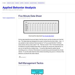 Applied Behavior Analysis — ABA info to help your child with autism