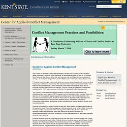 Kent State: Center for Applied Conflict Management
