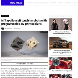 MIT applies soft touch to robots with programmable 3D-printed skins