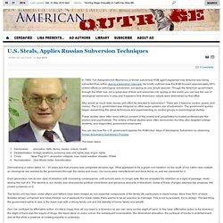 U.S. Steals, Applies Russian Subversion Techniques