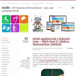 Mobil applikációk a fejlesztő órán – Math Duel (2 Játékos: Matematikai Játékok)