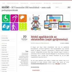 Mobil applikációk az oktatásban (saját gyűjtemény)