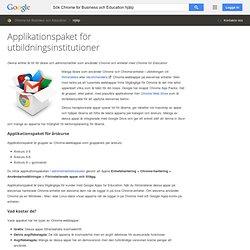 Appaket för utbildning - Chrome för företag Hjälp