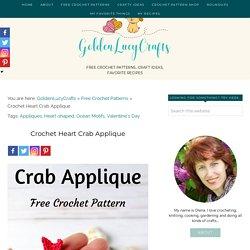 Crochet Crab Applique, Free Crochet Pattern – GoldenLucyCrafts