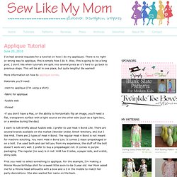 Applique Tutorial | Sew Like My Mom