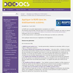 Appliquer le RGPD dans les établissements scolaires.