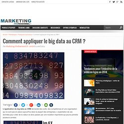 Comment appliquer le big data au CRM ? - Marketing Professionnel - Marketing professionnel – Le marketing pour les professionnels