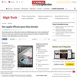 Des applis iPhone pour bien dormir