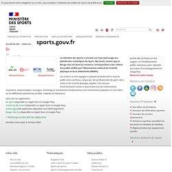 Ministère des sports : des applications pour faire du sport à la maison