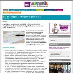 Bac 2016 : applis et sites gratuits pour réviser_vousnousils