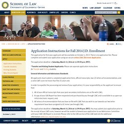 Law - How to Apply - Prospective Students