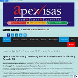 How to Apply for Canadian PR Process From India