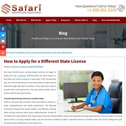 How to Apply for a Different State License