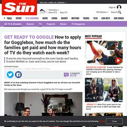 How to apply for Gogglebox, how much do the families get paid and how many hours of TV do they watch each week?
