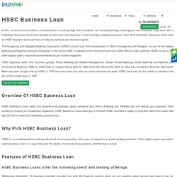 Apply for HSBC Business Loan with lowest ROI
