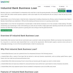 Apply for Indusind Bank Business Loan with lowest ROI