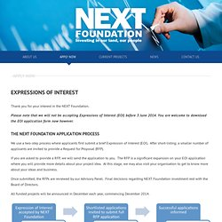 Apply Now » Next Foundation