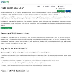 Apply for PNB Business Loan with lowest ROI