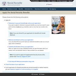 Applying for Social Security Benefits - Welcome