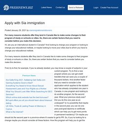 Apply with Sia immigration