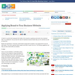 Applying Brand to Your Business Website