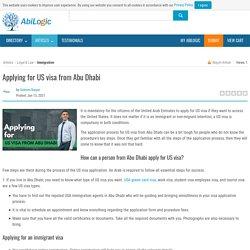 Applying for US visa from Abu Dhabi