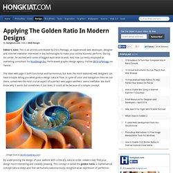 Applying the Golden Ratio in Modern Designs