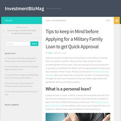 Tips to keep in Mind before Applying for a Military Family Loan to get Quick Approval