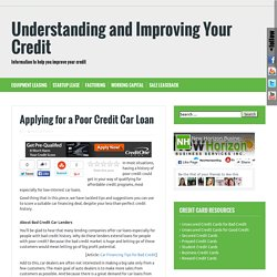 poor credit car financing