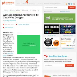 Applying Divine Proportion To Your Web Designs