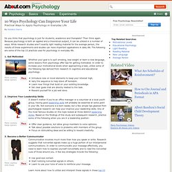 Applied psychology in everyday life
