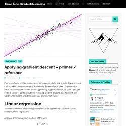 Applying gradient descent - primer