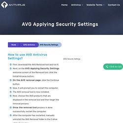 AVG Applying Security Settings
