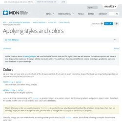 Applying styles and colors - Web API Interfaces